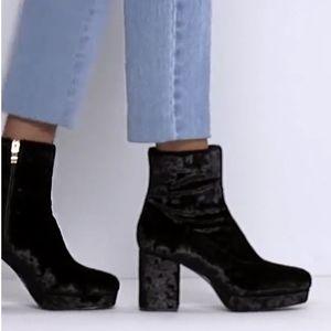 Amazing ASOS Velvet Platform Ankle Boots